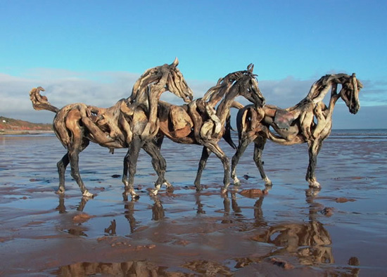 wood horses Heather Jansch