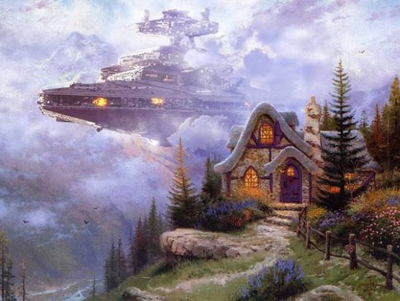 Wars on Kinkade Digital Art by Jeff Bennett