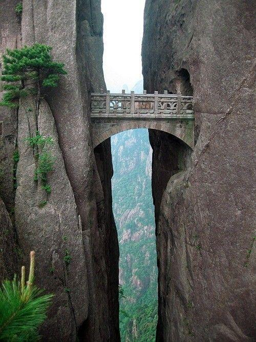 Bridge of Immortals, Huangshan, China.