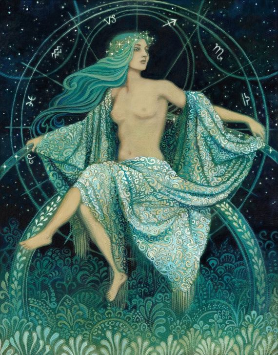 Asteria goddess of the stars, etsy