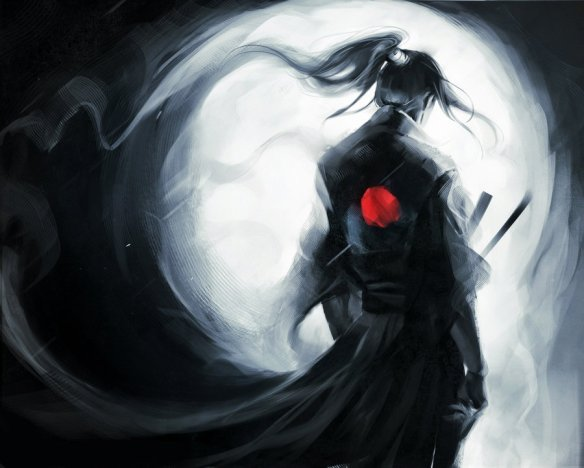 lonely__wolf___samurai__updated_t_shit_design___by_sakimichan-d3lmf0u