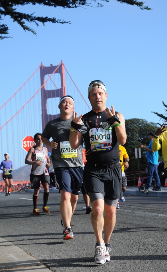 Sean running gg bridge